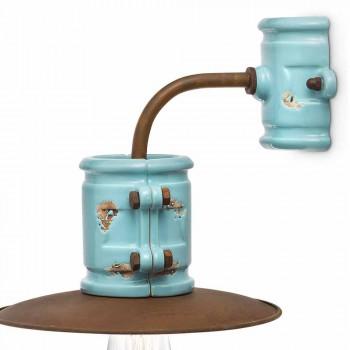 Apliques de cerámica Spotlight-pared y de metal artesanías Katy