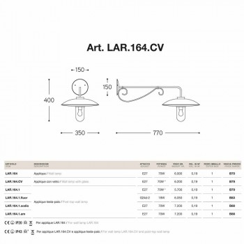 Apliques con vidrio Lear cobre, aluminio y latón