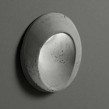 Aplique de exterior ovalado en arcilla coloreada Óvalo - Toscot