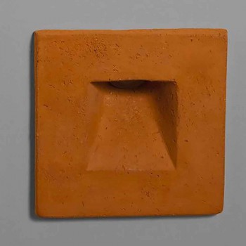 Aplique de exterior cuadrado, terracota coloreada - Toscot