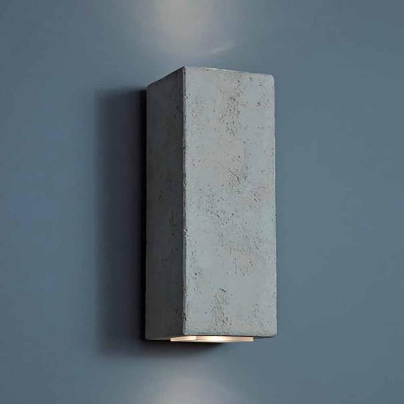 Smith - Aplique de exterior LED Toscot en loza de barro H 24 cm