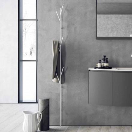 Perchero de diseño moderno en metal blanco o cromado - Kottac