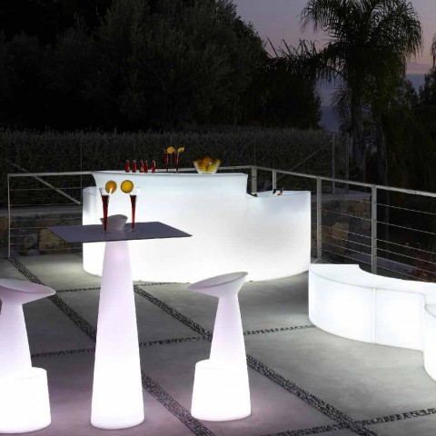 Mostrador de barra luminosa Bar de estilo moderno Slide Break Bar hecho en Italia