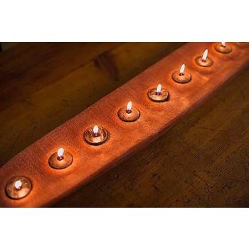 Barco de cera con luces marrones o marfil, incluido el Made in Italy - Ludvig
