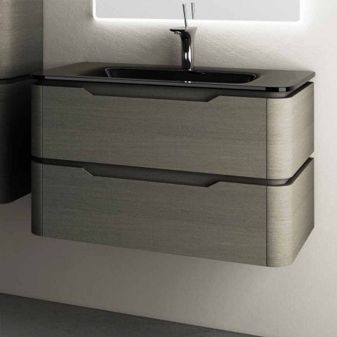 Base lavabo suspendido moderno diseño 85x55x55cm Arya madera lacada