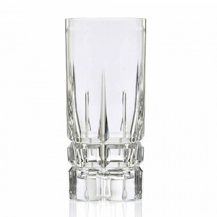 Vaso de cóctel Highball High 12 Piezas en Eco Crystal - Fiucco