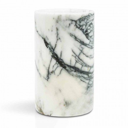 Portacepillos de vidrio en mármol Paonazzo Made in Italy - Limba