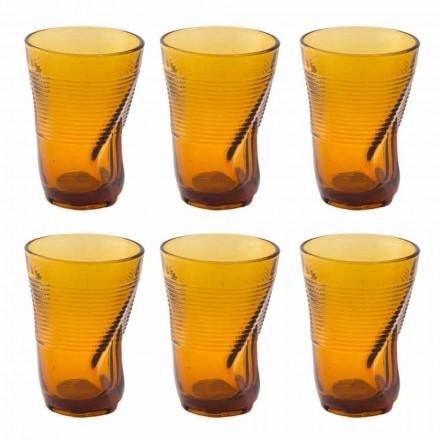 Copas de cóctel de vidrio coloreado 12 piezas de diseño arrugado - Sarabi