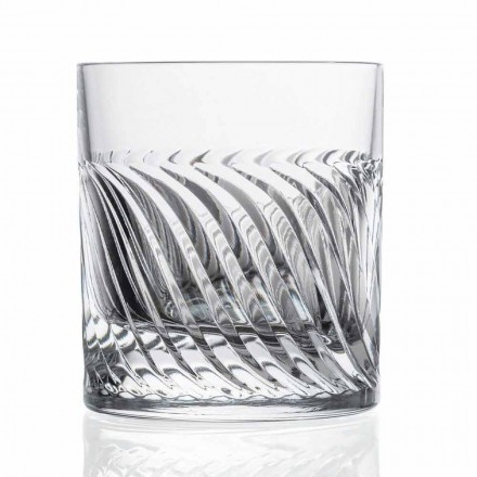 Vasos de whisky de lujo Eco Crystal DOF Design 12 piezas - Arritmia