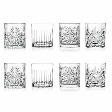 Vasos de vaso de lujo doble antiguo 8 piezas surtidas - Malgioglio