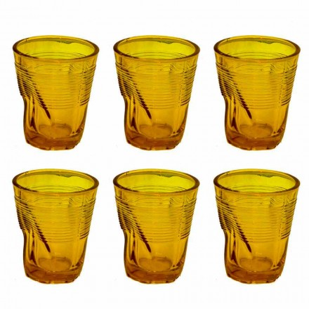 Vasos de agua de vidrio coloreado moderno 12 piezas de diseño - Sarabi