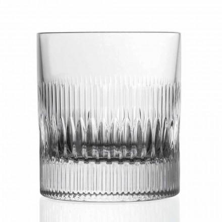 Vasos de agua y whisky de cristal 12 piezas Decoración de estilo vintage - Táctil
