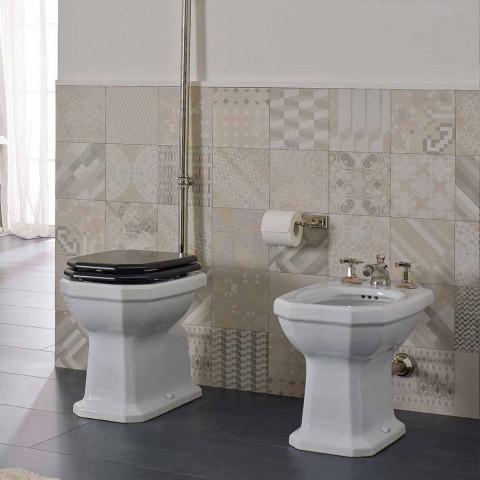 Bidé de cerámica blanca de estilo vintage Made in Italy - Nausica