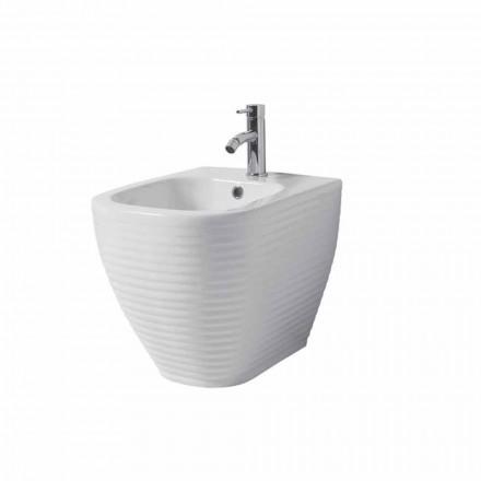 Bidet molido en ceramica vidriada blanca o coloreada de trabia.