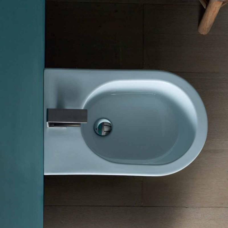 Bidet de cerámica de diseño moderno 57x37cm Sun, hecho en Italia