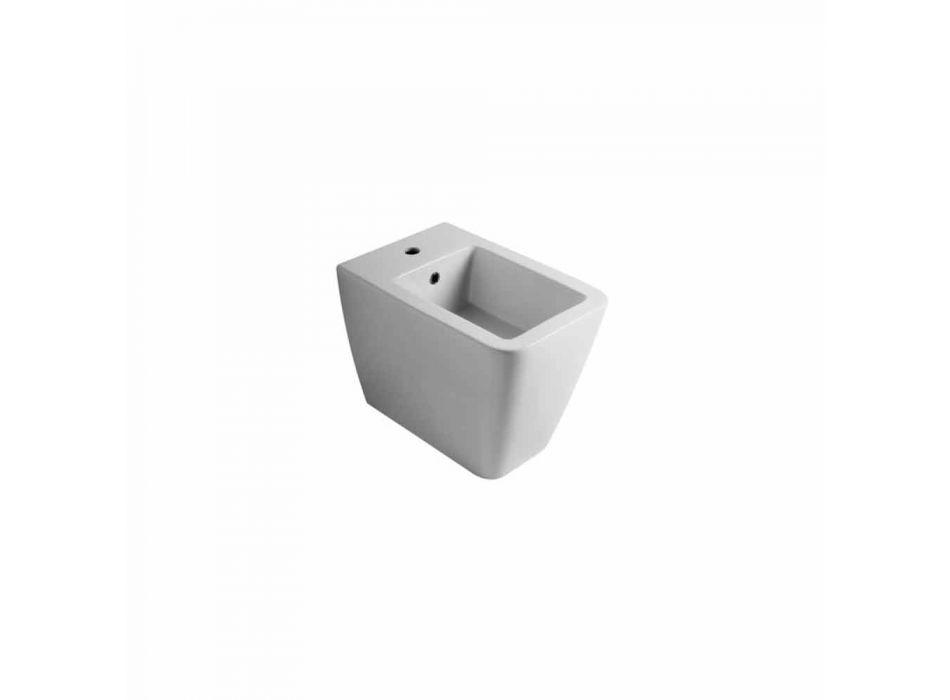 Diseño moderno bidet de cerámica blanca Sol 55x35 cm hecho en Italia
