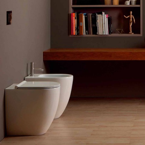 Bidet de cerámica de diseño moderno Shine Square Open Rimless H50 cm