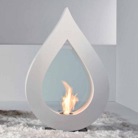 Biocamino a partir de bioetanol tierra, diseño moderno llama en la forma Todd