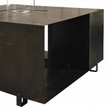 Biochimenea de suelo y mesa de centro de diseño moderno en acero - Christopher