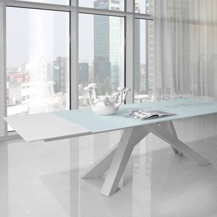 Mesa extensible Bonaldo Big Table de cristal fabricada en Italia