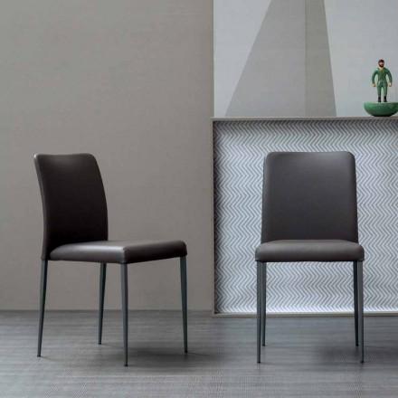 Silla de diseño Bonaldo Deli con asiento tapizado hecho en Italia
