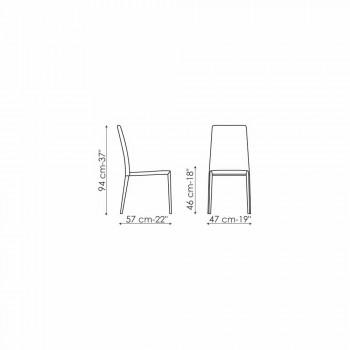 Bonaldo Eral silla de diseño moderno tapizada en cuero hecho en Italia