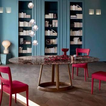 Bonaldo Greeny diseño de mesa redonda de mármol Emperador hizo Italia