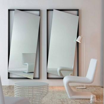 Bonaldo Hang pared espejo lacado en madera diseño H185cm made in Italy