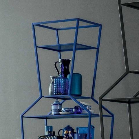 Bonaldo June estante metálico de metal de diseño H190xL70cm fabricado en Italia