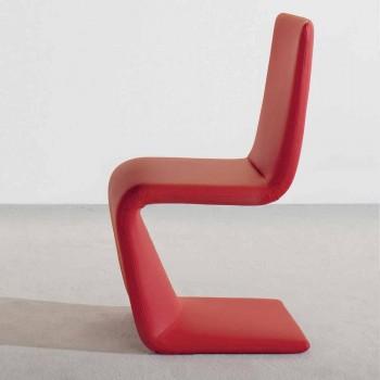Bonaldo Venere silla de diseño moderno tapizada en cuero hecho en Italia