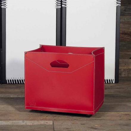 Bolsa porta leña de cuero con ruedas modelo Innovo