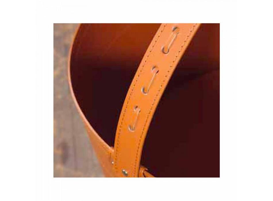 Bolsa de leña en cuero Milo 100% Made in Italy