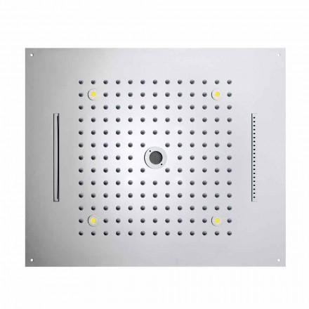 Bossini Rociador ducha moderno con 4 funciones y cromoterapia Dream