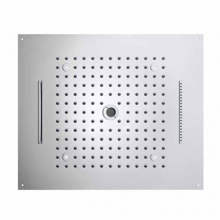 Bossini Rociador de ducha moderno con 4 funciones y LED modelo Dream