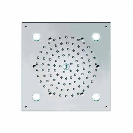 Bossini Rociador de ducha con 4 luces LED modelo Cube-Light