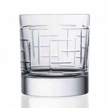 Botella y Vasos para Whisky de Lujo en Cristal Ecológico 6 Piezas - Arritmia