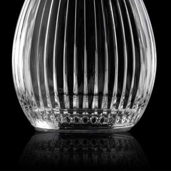 Botellas de Vino de Diseño Redondo con Tapón de Cristal de 4 Piezas - Senzatempo