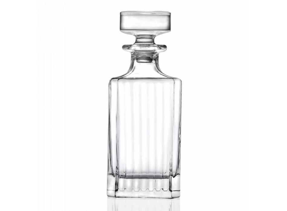 Botellas de whisky de cristal ecológico de diseño cuadrado de 4 piezas - Senzatempo