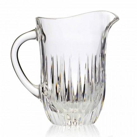 Jarra de cristal ecológico con decoración artesanal, lujo italiano, 2 piezas - Voglia