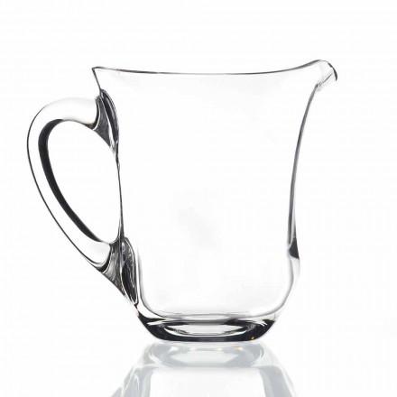 Jarra de agua de cristal ecológica de diseño italiano, 2 piezas - Suavizado