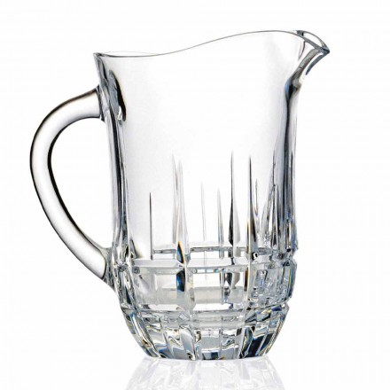 Jarras de agua de cristal ecológicas decoradas, diseño de lujo, 2 piezas - Fiucco