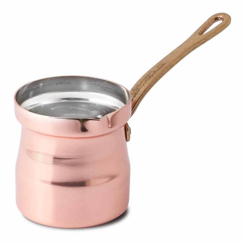 Cafetera turca en diseño de cobre estañado hecho a mano Made in Italy - Gianlorenzo