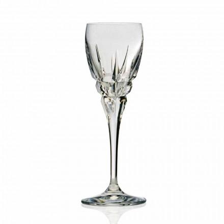 Copa para Vino Tinto en Cristal Ecológico Cortado a Mano 12 Piezas - Fiucco