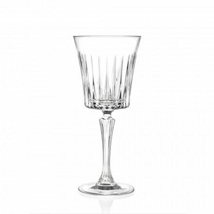 Diseño de copas de vino y cóctel de lujo en Eco Crystal 12 Piezas - Senzatempo