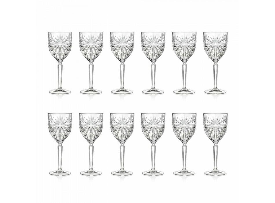 12 vasos de agua o vino de cristal ecológico - Daniele