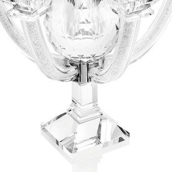 Candelabro de cristal con pedrería diseño de 7 llamas lujo italiano - Maike