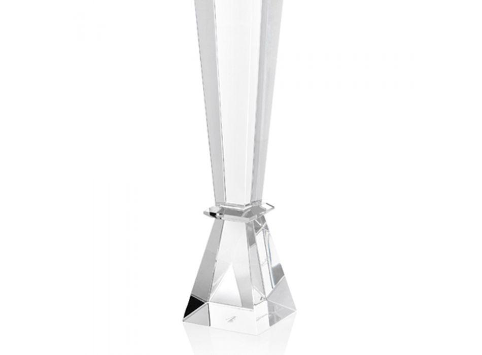 Candelabro de cristal precioso de diseño de lujo italiano 2 alturas - Mercedes
