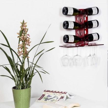 Porta botellas de vino rojo Luna, diseño moderno