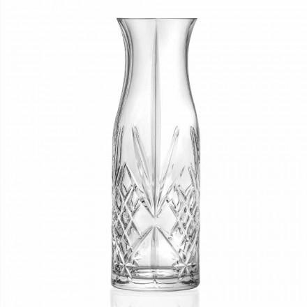 Jarra para agua o vino 4 piezas Eco Crystal Diseño Vintage - Cantabile