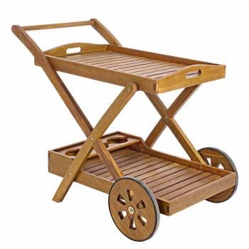 Carrito de jardín en madera de acacia Diseño elegante - Roxen